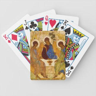 Trinité de Rublev au Tableau Jeu De Cartes