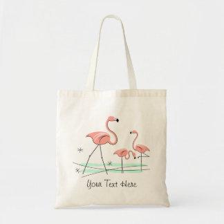 """Trio 2 van flamingo's het bolsazak van de """"Tekst"""" Draagtas"""