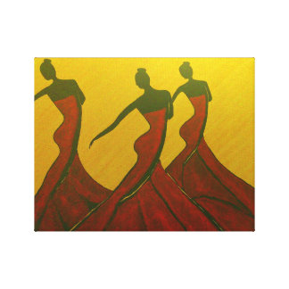 Trio de danse toiles