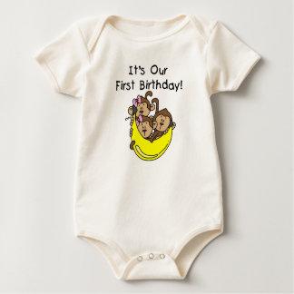 Triplets ęrs - Deux T-shirts et cadeaux de garçon