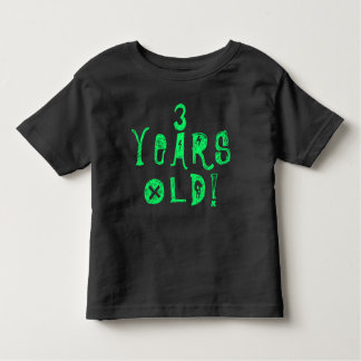 trois années d'anniversaire de bébé de crâne de t-shirt pour les tous petits