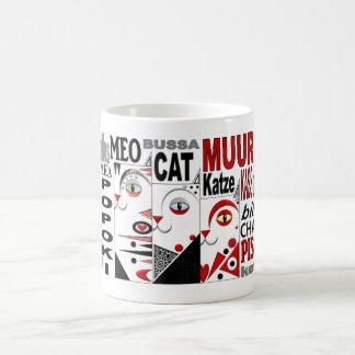 Trois chats mug blanc