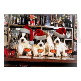 Trois Noël St Bernard à la barre Carte