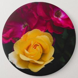 Trois roses badge rond 15,2 cm
