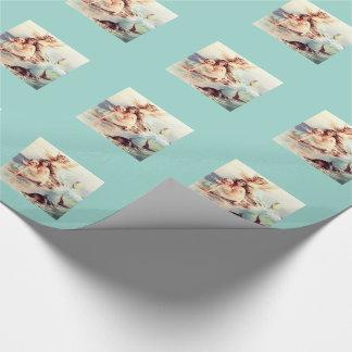Trois sirènes avec le dauphin papier cadeau