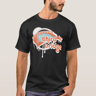 troisième pont. orange&blue. t-shirt