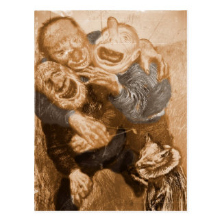 Trolls première génération riants cartes postales