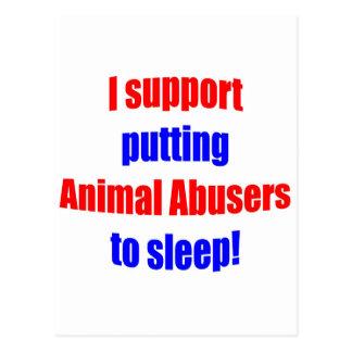 Trompeurs animaux mis pour dormir carte postale
