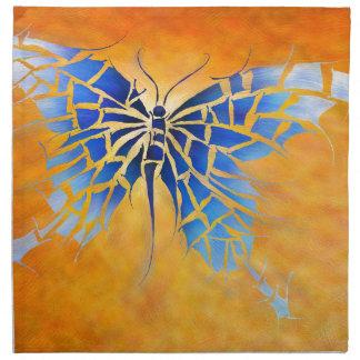 Tropenillo V1 - le papillon bleu Serviettes En Tissus