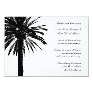 Tropische het huwelijksuitnodigingen | van de palm kaart