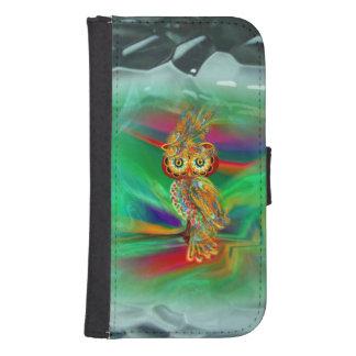 Tropische Mode Koningin Owl Wallet Case Galaxy S4 Portefeuille Hoesje