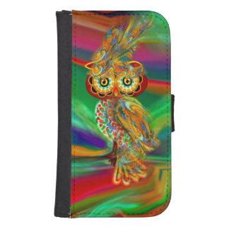 Tropische Mode Koningin Owl Wallet Case Galaxy S4 Portemonnee Hoesje