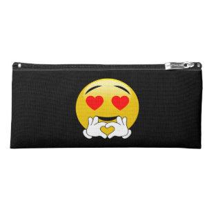 c310655c9f Trousse Emoji avec des yeux et des mains de coeur