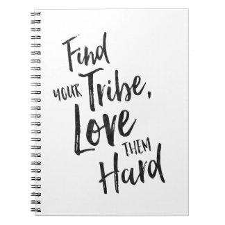 Trouvez votre tribu - journal inspiré carnets