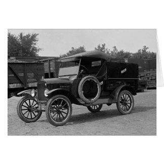 Truck de location tôt, 1925 carte de vœux