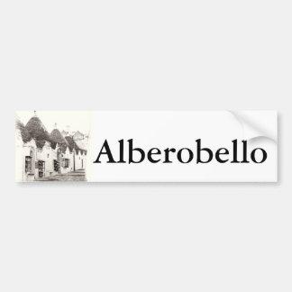 trullis dans Alberobello, Puglia, Italie Autocollant De Voiture