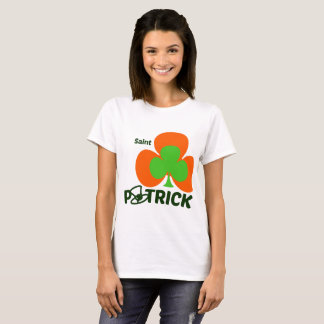 tShirt woman St Patrick' s Day - Green and Oranje