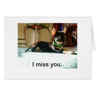 Tu me manque carte