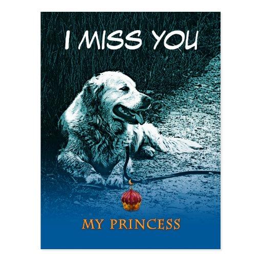 Tu me manque - princesse Luna - carte Cartes Postales