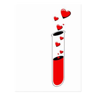 tube à essai de philtre d'amour cartes postales
