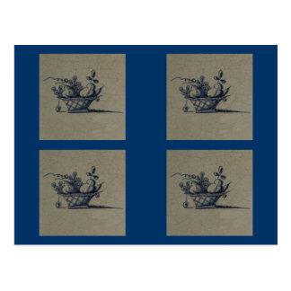 Tuile bleue ancienne classique de Delft - Carte Postale