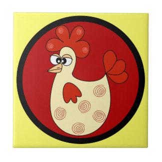 Tuile de cuisine de poulet de bande dessinée carreaux en céramique