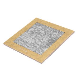 Tuile de photo - frontière tourbillonnée des solei grand carreau carré