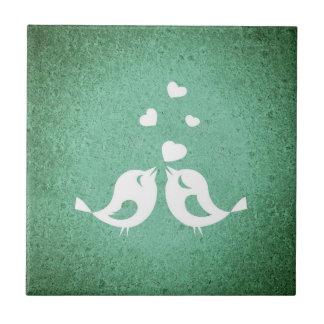 Tuile de turquoise d'inséparable petit carreau carré