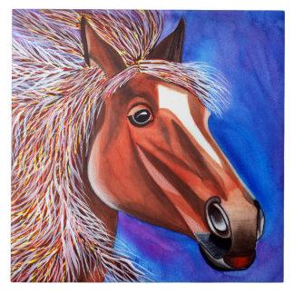 Tuile décorative de cheval carreau