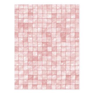 Tuile décorative géométrique de rose Girly de Carte Postale