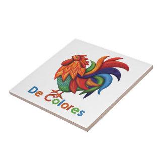 Tuile en céramique de photo de De Colores Rooster Petit Carreau Carré