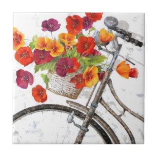 Tuile florale carreau