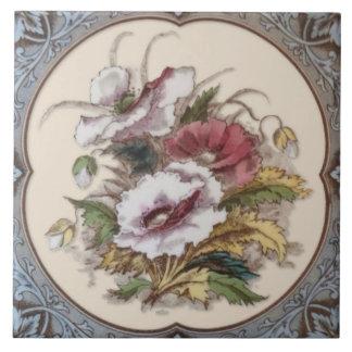 Tuile florale victorienne antique Repro de Carreau