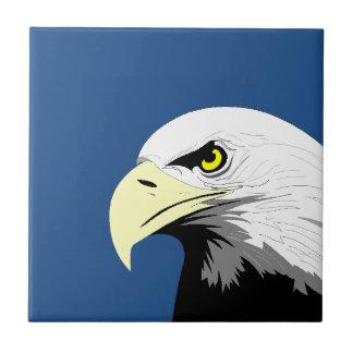 Tuile nationale principale chauve de bleu marine carreaux