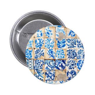 tuile PO du Portugal de décoration bleue de Badge Rond 5 Cm