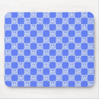 Tuiles bleues avec des sourires tapis de souris