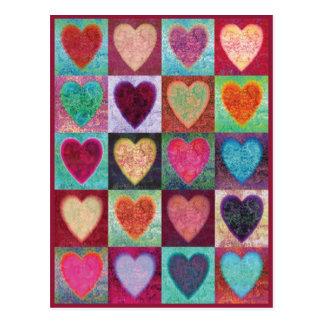 Tuiles d'art de coeur cartes postales
