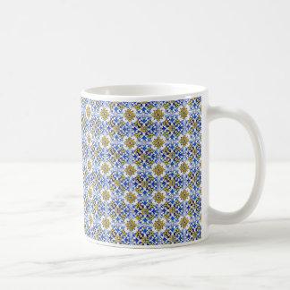 Tuiles sans couture de panneau d'Azulejo Mug Blanc