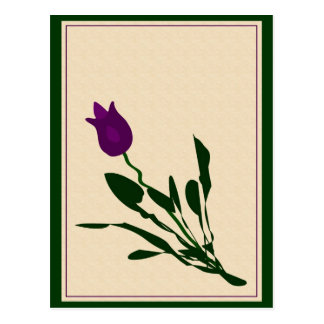 Tulipe abstraite carte postale