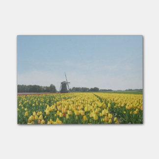 Tulipes et paysage de la Hollande de moulin à vent Post-it®