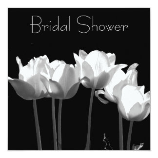Tulipes, invitations nuptiales de douche de B&W