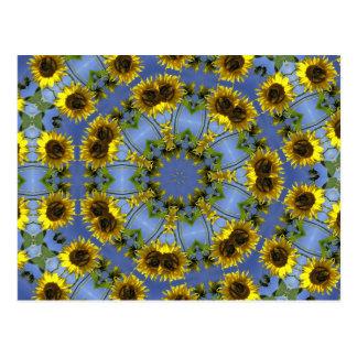 Tunnel abstrait fleurissant de Sun Cartes Postales