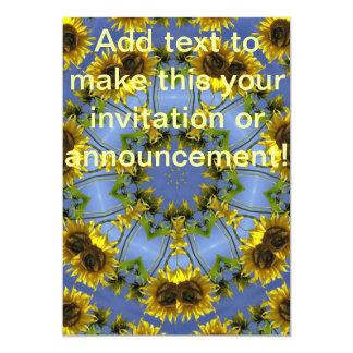 Tunnel abstrait fleurissant de Sun Carton D'invitation 12,7 Cm X 17,78 Cm