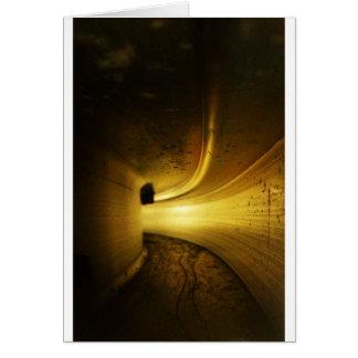 Tunnel de lumière carte de vœux