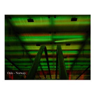 Tunnel de lumière - Oslo Cartes Postales