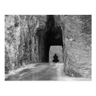 Tunnel de route d'aiguilles carte postale