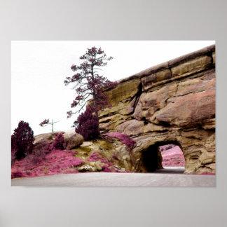 tunnel de route de campagne