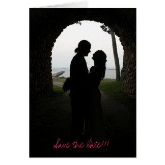 Tunnel des économies d'amour la date ! ! ! carte de vœux
