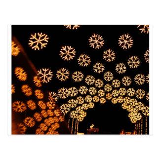 Tunnel léger de flocon de neige cartes postales