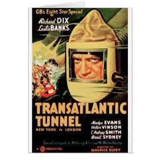 Tunnel transatlantique carte de vœux